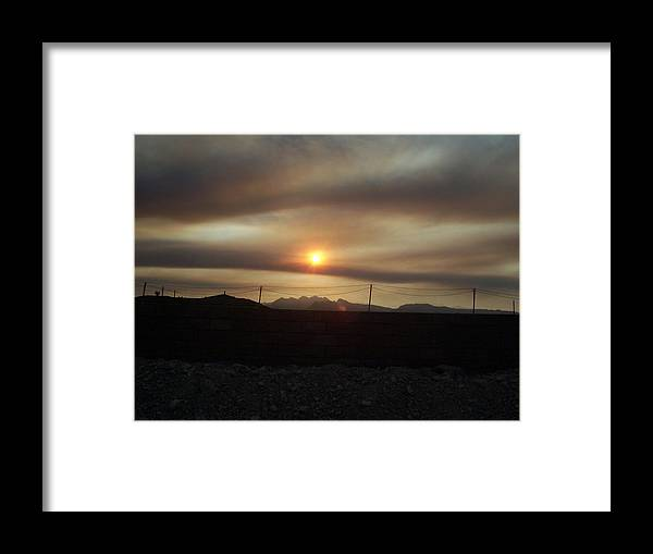 Sunset Framed Print featuring the photograph Nevada Sunset by Patricia Williams