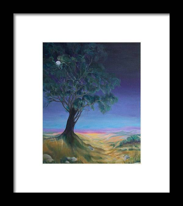 Night Sky Framed Print featuring the painting New Day by Irene Corey