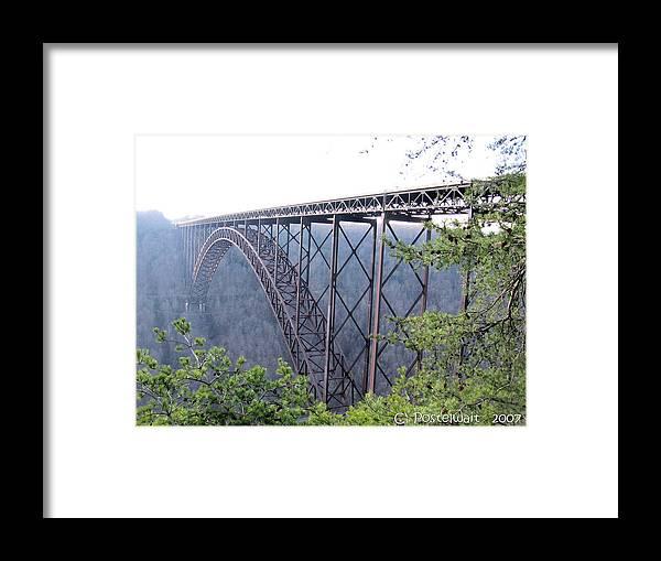 New River Gorge Bridge Framed Print featuring the photograph New River Gorge Bridge by Carolyn Postelwait