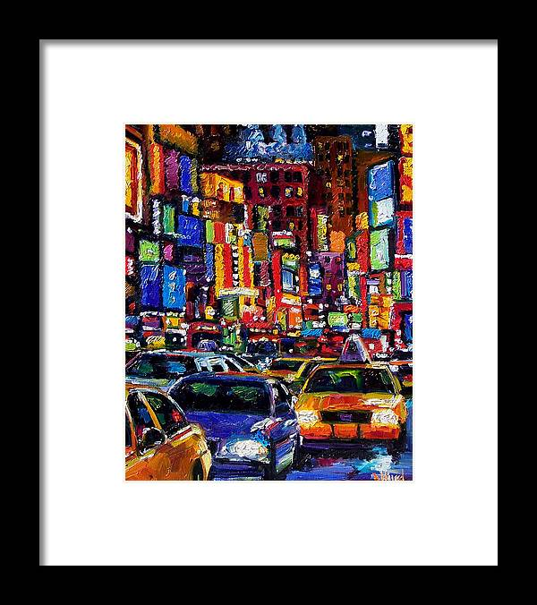 New York City Framed Print featuring the painting New York City by Debra Hurd