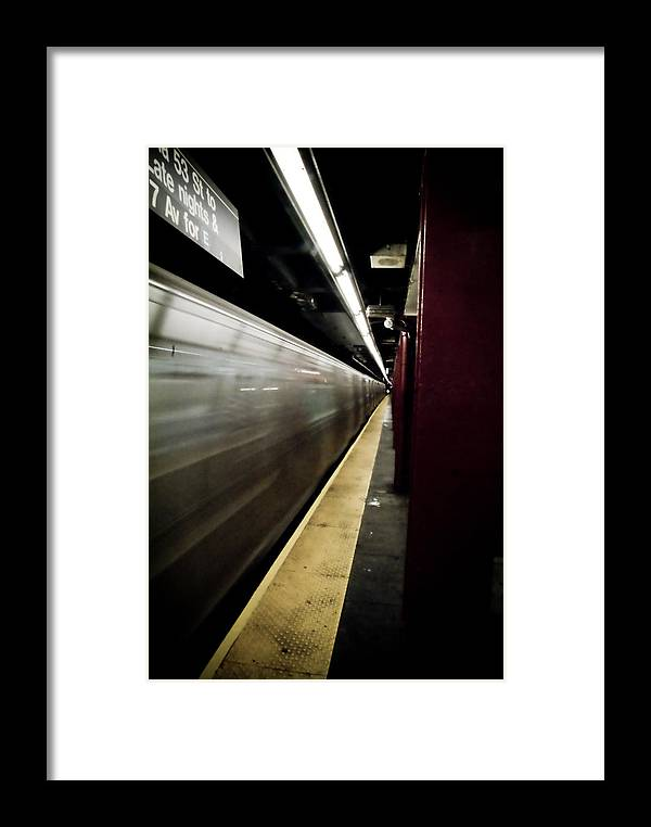 New York City Framed Print featuring the photograph New York City Subway by Patrick Flynn