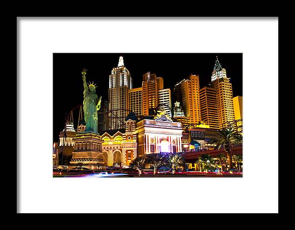 Nevada Framed Print featuring the photograph New York New York Casino by James Marvin Phelps