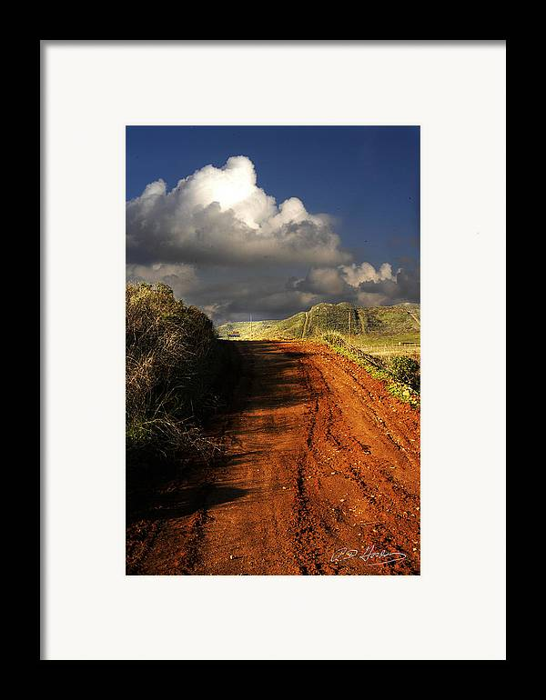 Landscape Framed Print featuring the photograph Noble Road by Richard Gordon