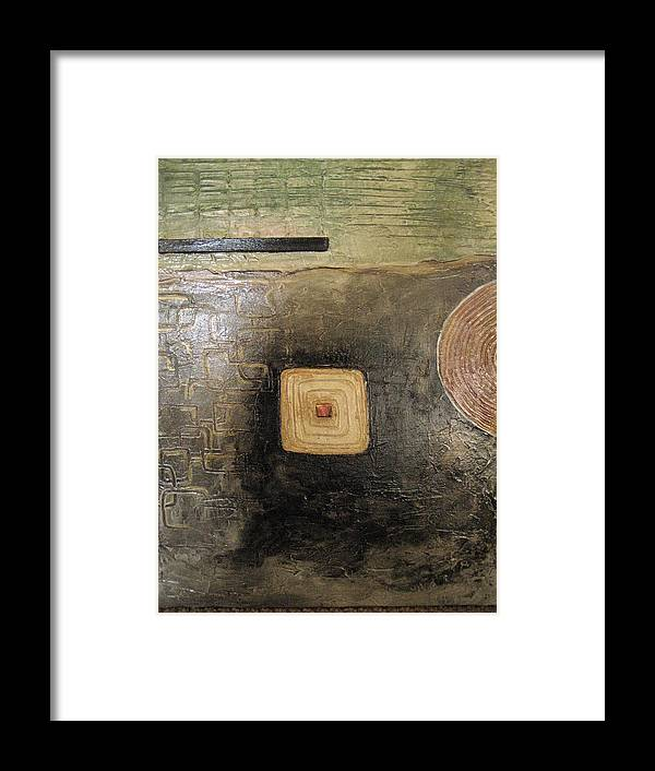Abstract Framed Print featuring the painting None by Jessica De la Torre