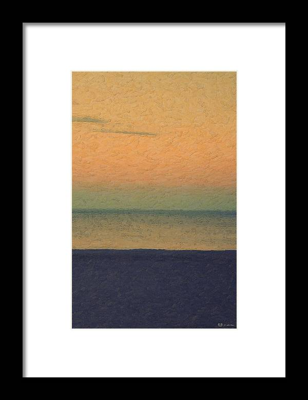 �not Quite Rothko� Collection By Serge Averbukh Framed Print featuring the photograph Not quite Rothko - Breezy Twilight by Serge Averbukh
