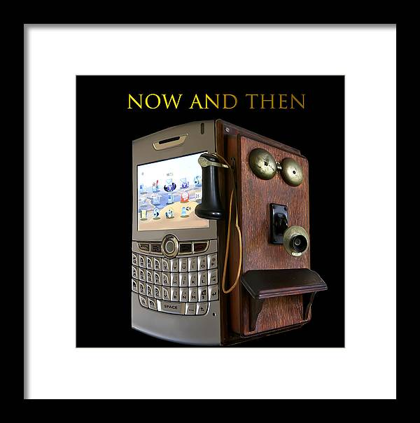 Phone Framed Print featuring the photograph Now And Then by Cecil Fuselier