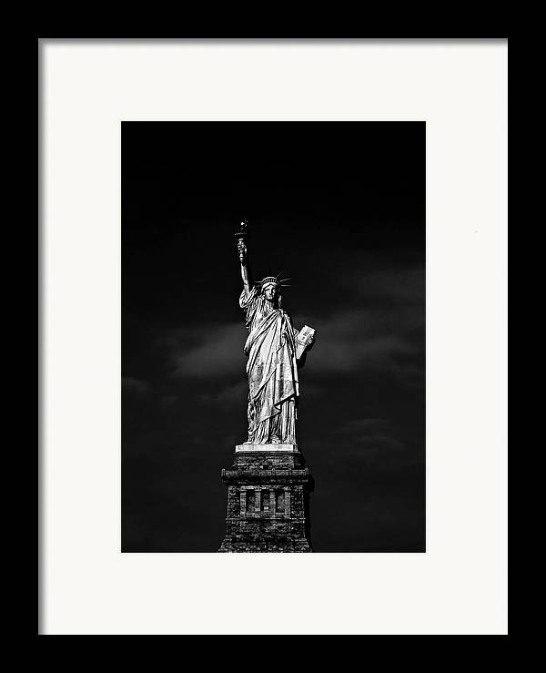 Ny Framed Print featuring the photograph Nyc Miss Liberty by Nina Papiorek
