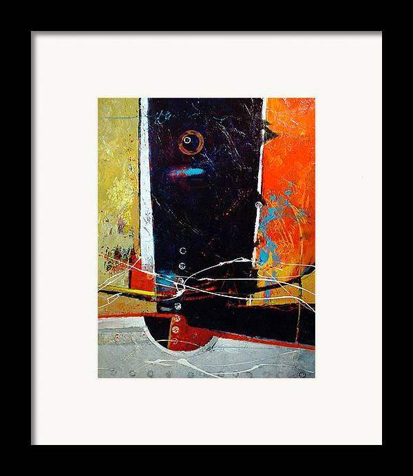 Abstract Framed Print featuring the painting Observatory by Dale Witherow