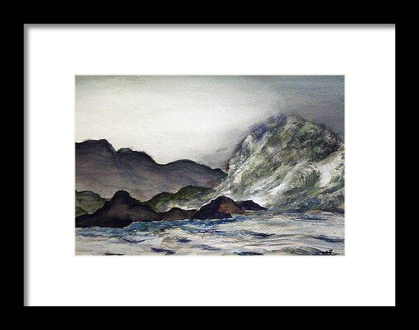 Ocean Framed Print featuring the painting Ocean Emotion Release by Tammera Malicki-Wong