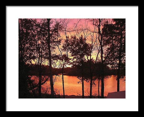 Framed Print featuring the photograph Oct. Sunset by Luciana Seymour