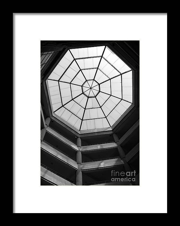 Octagon Framed Print featuring the photograph Octagon Skylight by Yali Shi
