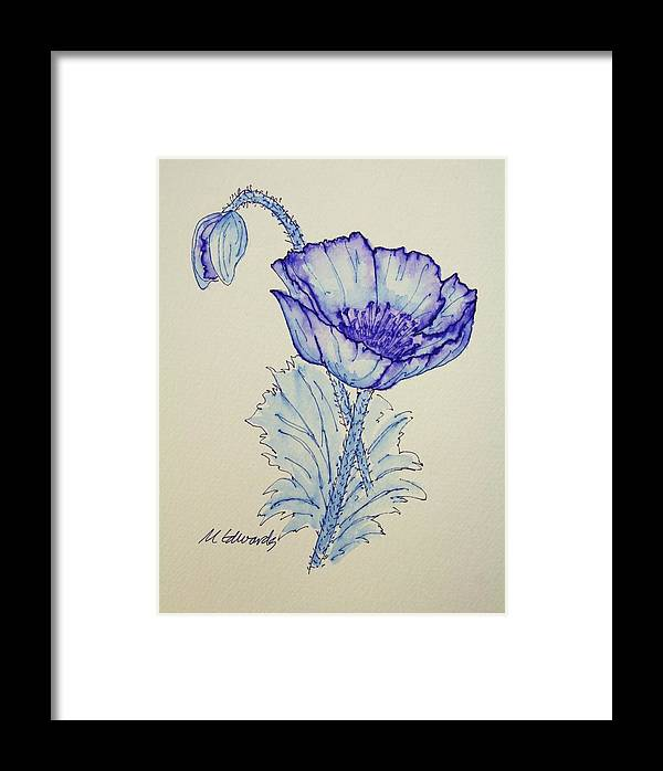 Poppy Framed Print featuring the drawing Oh Poppy by Marna Edwards Flavell
