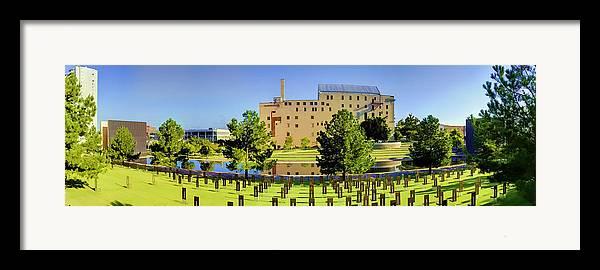 National Framed Print featuring the photograph Oklahoma City National Memorial by Ricky Barnard