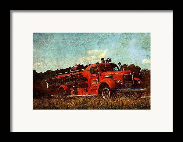 Fire Truck Framed Print featuring the photograph Old Fire Truck by Off The Beaten Path Photography - Andrew Alexander