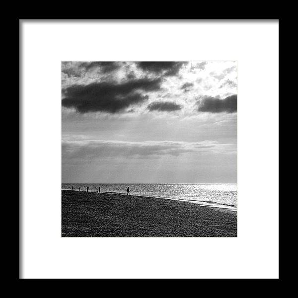 Landscapelovers Framed Print featuring the photograph Old Hunstanton Beach, Norfolk by John Edwards