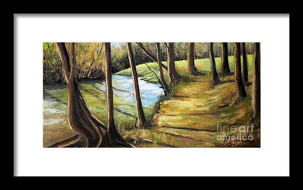Creek Framed Print featuring the painting Old Jones Creek by Kimberly Daniel