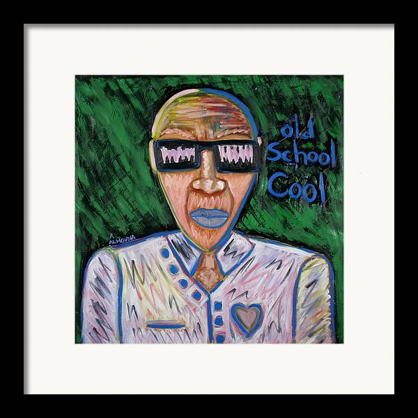 Old School Framed Print featuring the painting Old School Cool by Albert Almondia