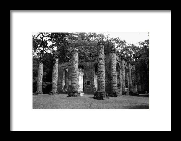 Old Sheldon Church Framed Print featuring the photograph Old Sheldon by Christine Negron