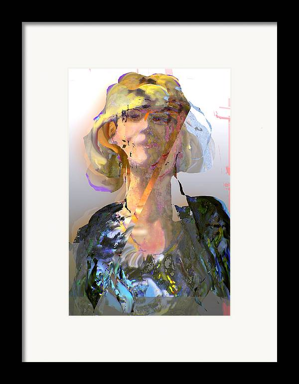 Portrait Framed Print featuring the mixed media Olga by Noredin Morgan