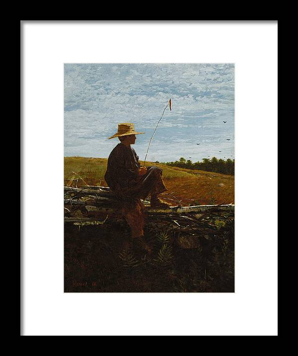 On Guard By Winslow Homer Framed Print featuring the painting On Guard by MotionAge Designs