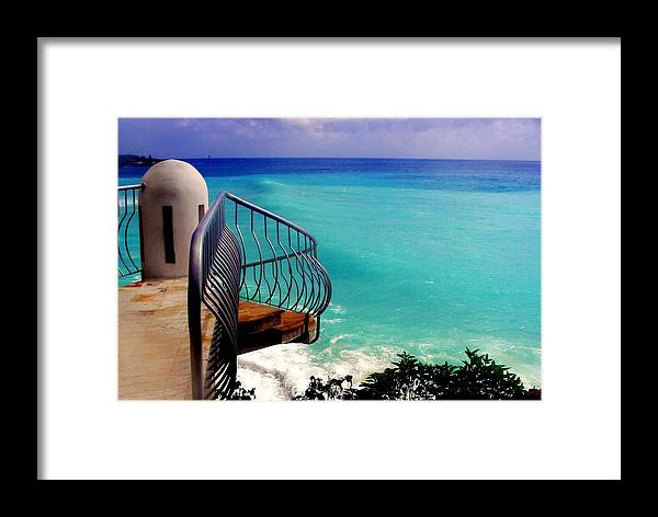 Seascapes Framed Print featuring the photograph On The Edge by Karen Wiles