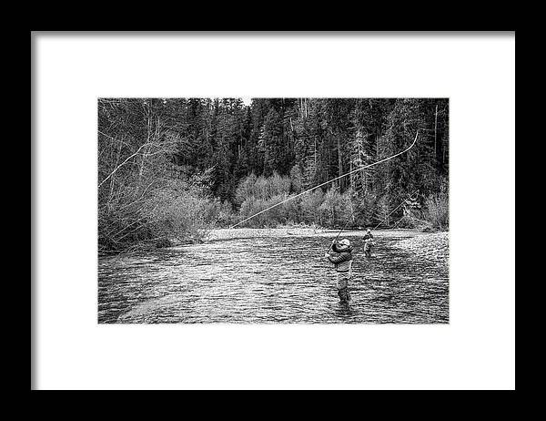 Flyfishing Framed Print featuring the photograph On the River by Jason Brooks