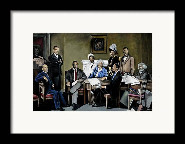 President Barack Obama Framed Print featuring the painting One Day by Stacy V McClain