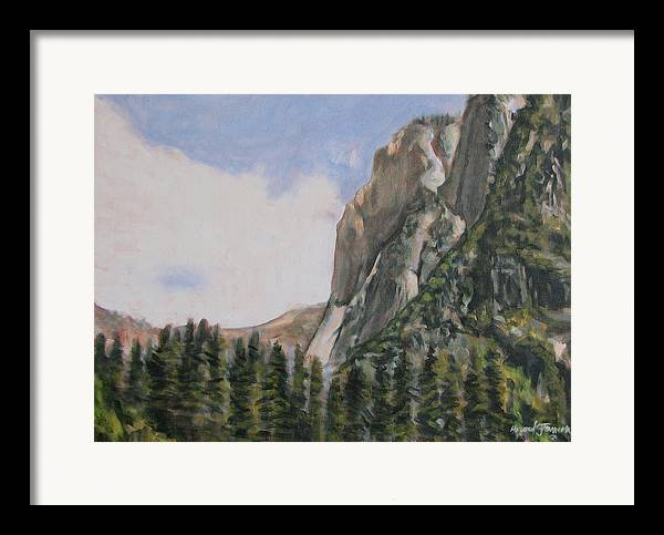 Landscape Framed Print featuring the painting One Flight Up by Howard Stroman