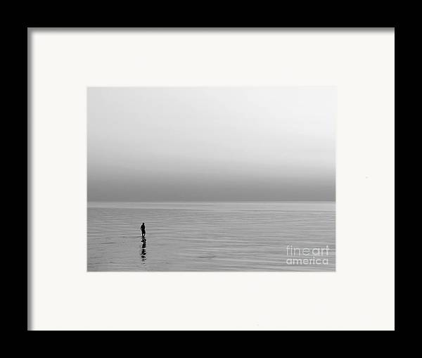 Lake Framed Print featuring the photograph One Man by Dana DiPasquale
