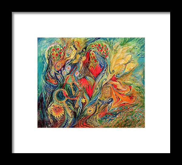 Original Framed Print featuring the painting One More Day In Paradise by Elena Kotliarker
