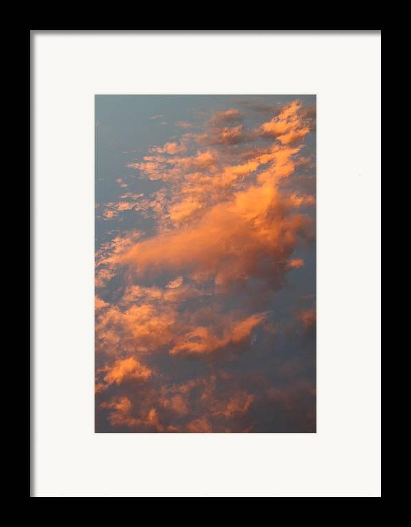 Sky Framed Print featuring the photograph Orange Sky by Brande Barrett