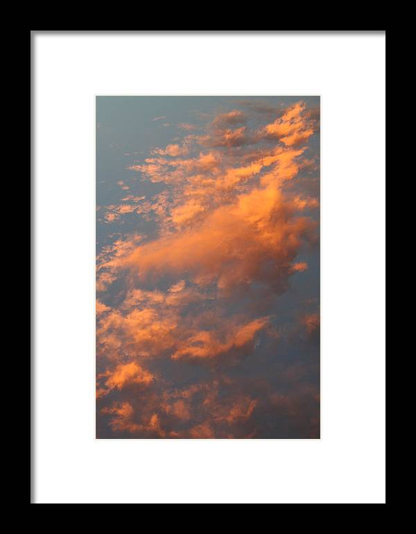 Sky Framed Print featuring the photograph Orange Sky by Brande Barrett