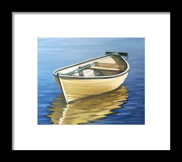 Still Life Framed Print featuring the painting Calm by Natalia Tejera