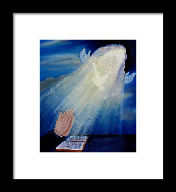 Blue Framed Print featuring the painting Our Daily Bread by Darlene Green