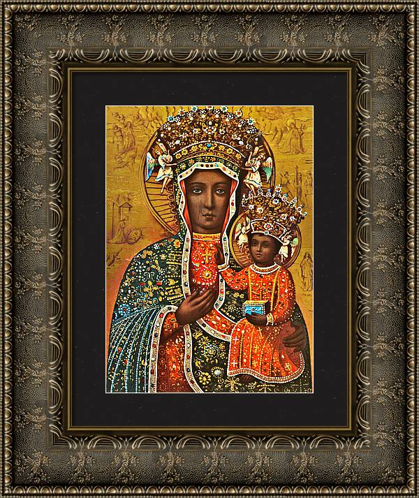Our Lady of Czestochowa Black Madonna Poland Polish Virgin Mary Religious Catholic Picture  by Magdalena Walulik