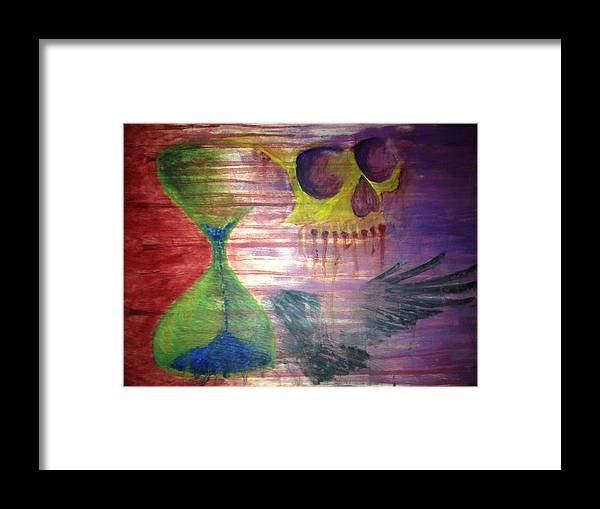 Framed Print featuring the painting Out Of Time by Zach Hunter