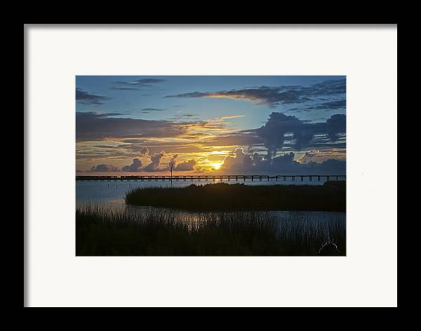 North Carolina Framed Print featuring the photograph Outer Banks Sunset by Williams-Cairns Photography LLC