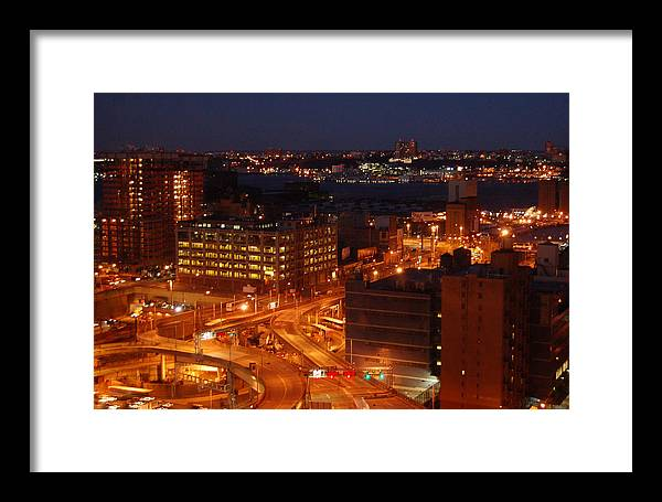 New York City Framed Print featuring the photograph Overlooking The Hudson River From 42nd Street II by Susan Heller