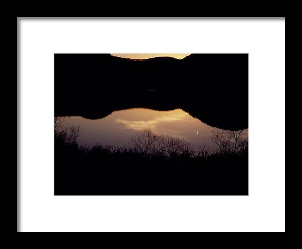 Landscape Framed Print featuring the photograph Owsley Fork Lake At Sunset by George Ferrell