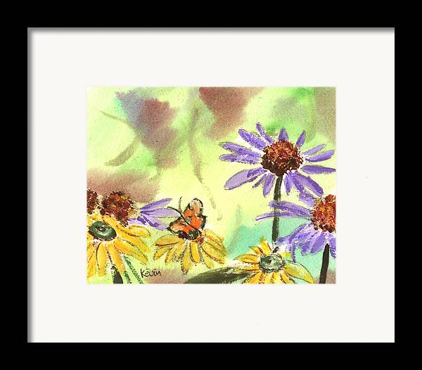 Kevin Callahan Framed Print featuring the painting Oxbow Summer by Kevin Callahan