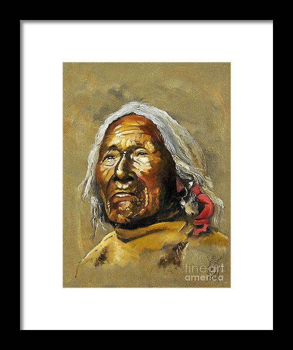 Southwest Art Framed Print featuring the painting Painted sands of time by J W Baker
