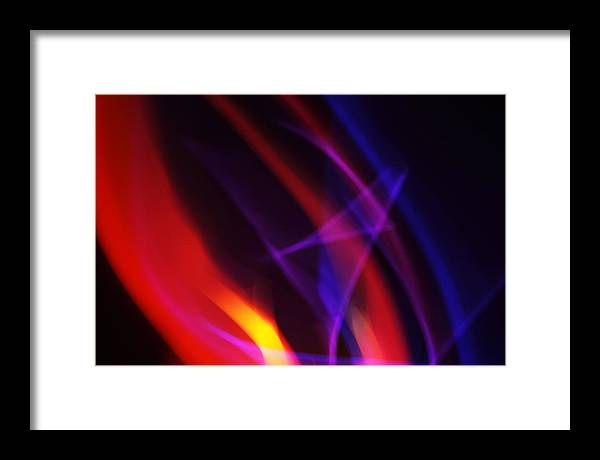 Abstract Framed Print featuring the photograph Painting With Light 6 by Chris Rodenberg