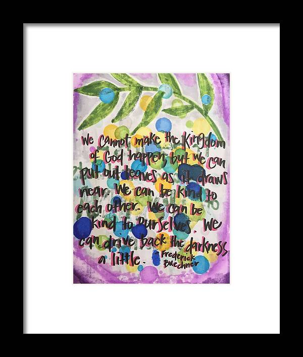 Palm Sunday Framed Print featuring the painting Palm Sunday by Vonda Drees