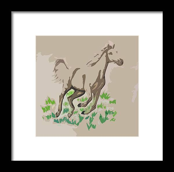 Palomino Framed Print featuring the digital art Palomino by Crystal Suppes