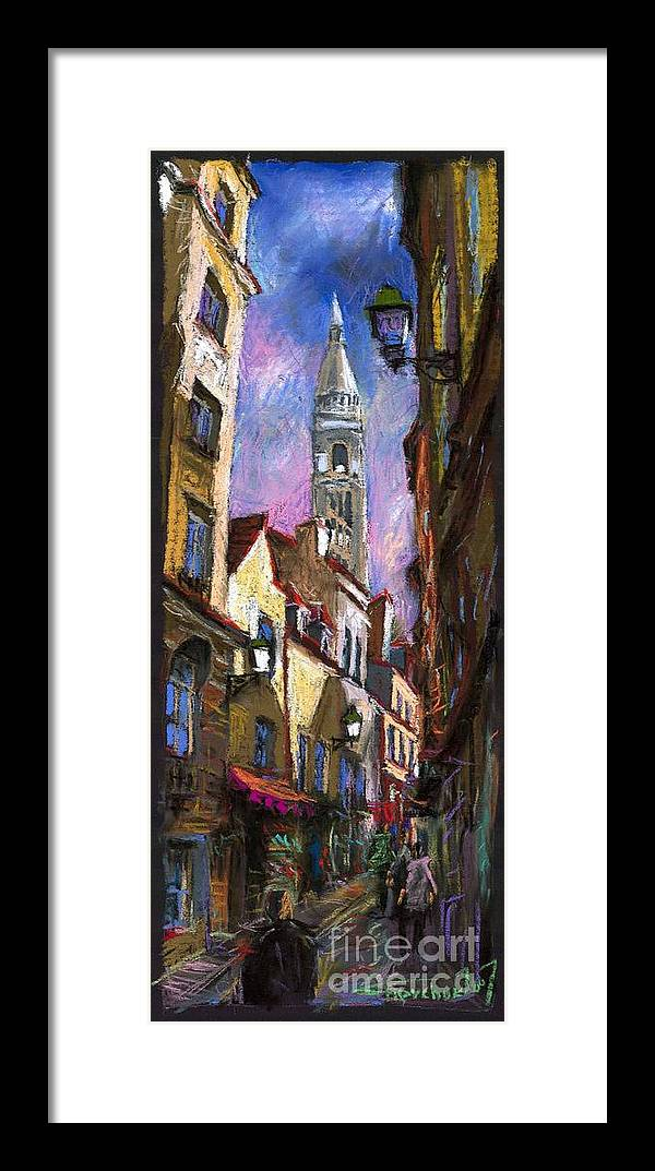 Pastel Framed Print featuring the painting Paris Montmartre by Yuriy Shevchuk