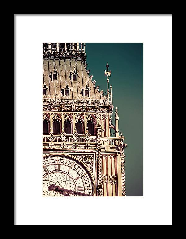 Big Ben Framed Print featuring the photograph Part Of The Face by Debra Cox