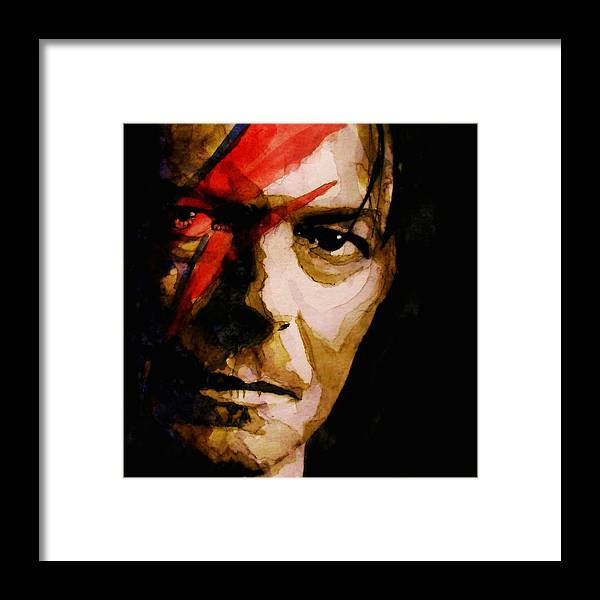 David Bowie Framed Print featuring the painting Past And Present by Paul Lovering