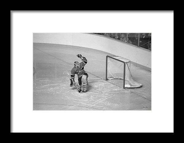 Steve Tobus Framed Print featuring the photograph Patrick Roy by Steve Tobus