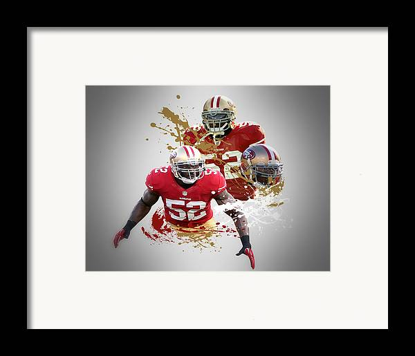 49ers Framed Print featuring the photograph Patrick Willis 49ers by Joe Hamilton