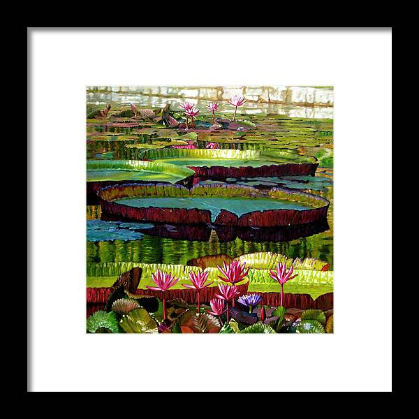 Landscape Framed Print featuring the painting Patterns Of Shadow And Sunlight by John Lautermilch